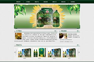 织梦生物科技植物食品油类公司网站织梦模板