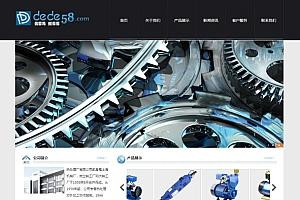 织梦黑色电子机械设备企业通用公司网站织梦模板